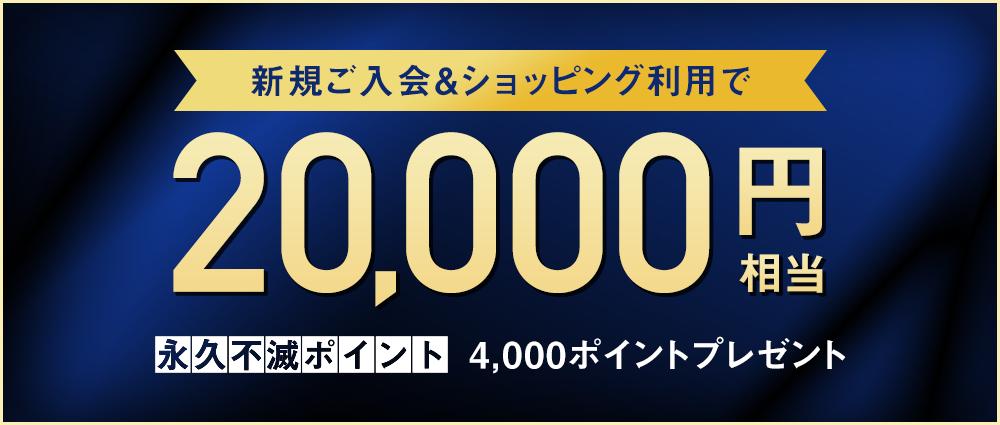 期間中、カード発行月の3か月後の月末までに40万円(税込)以上のご利用で永久不滅ポイント4,000ptプレゼント